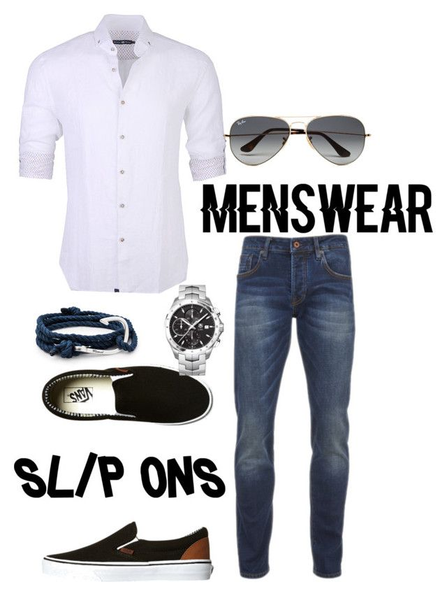 """Slip-ons style"" by regiblueeyess on Polyvore featuring MIANSAI, Vans, Scotch & Soda, Stone Rose, TAG Heuer, Ray-Ban, men's fashion, menswear and slipons"