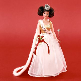 Miss America Barbie with quick-curl hair.