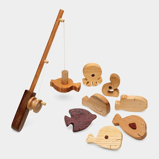Wooden Fishing Play Set- mom see if dad could make this!