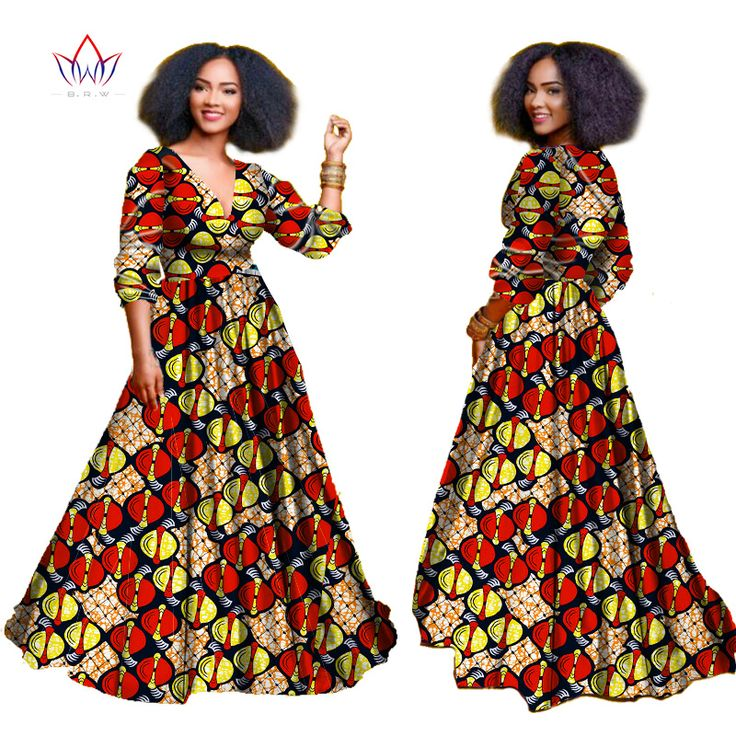 2017 african dresses for women Autumn three-quarter sleeve  Dashiki african print clothing plus size christmas dress 5xl WY939