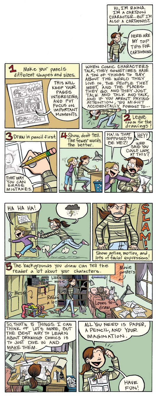 Raina's 5 Steps to Creating a Graphic Novel