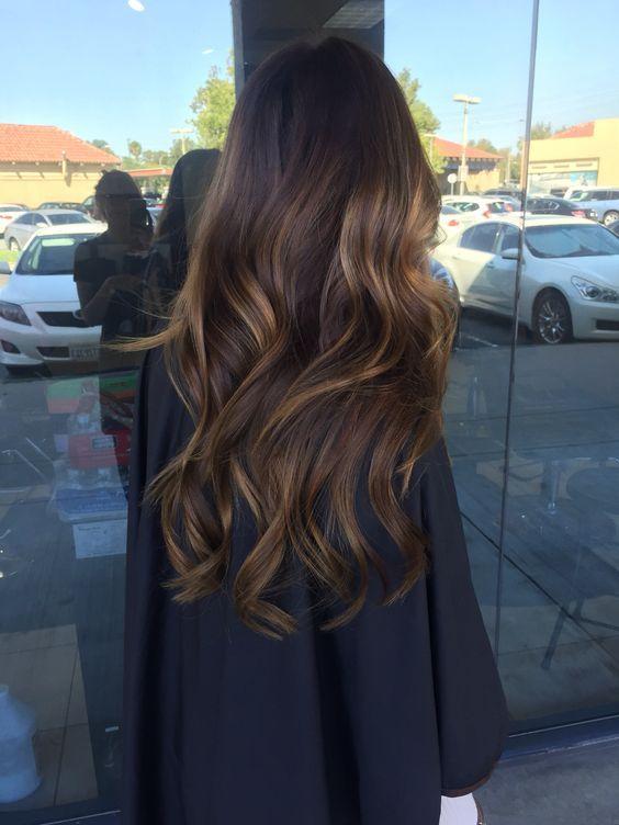 Balayage Color on Dark Hair