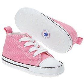 baby girl crib shoes | Converse Baby Boy or Baby Girl First Star Crib Shoes on Wanelo