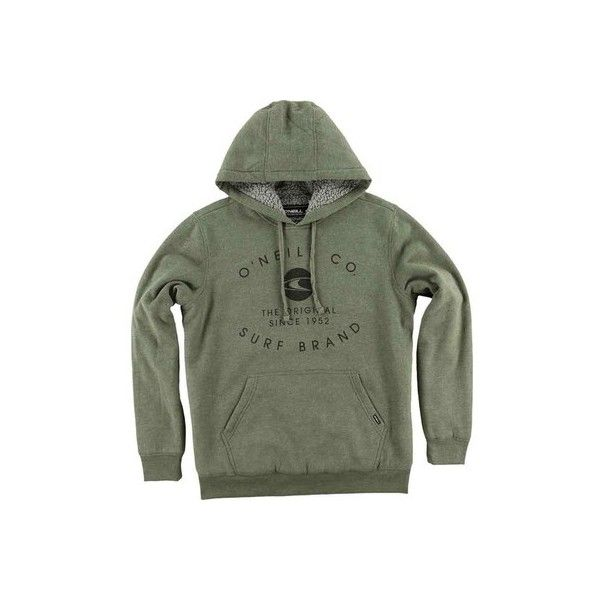 Men's O'Neill The Sherps Hooded Pullover ($69) ❤ liked on Polyvore featuring men's fashion, men's clothing, men's hoodies, olive, mens sherpa lined hoodies, mens hoodie, mens hoodies, mens sweatshirt hoodies and men's sherpa lined hoodie