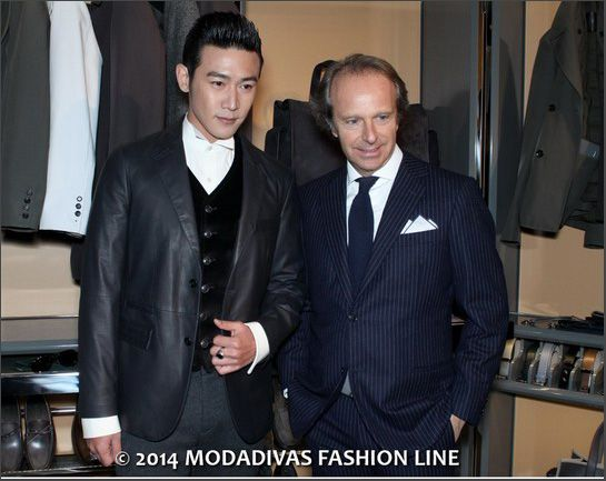 """Tod's Fall Winter 2014/15:  The Gentleman Room Andrea Della Valle and Lu Yi """"Actor"""""""