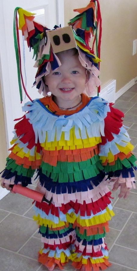 cutest ting ever..homemade pinata costume toddler diy halloween costume ideas