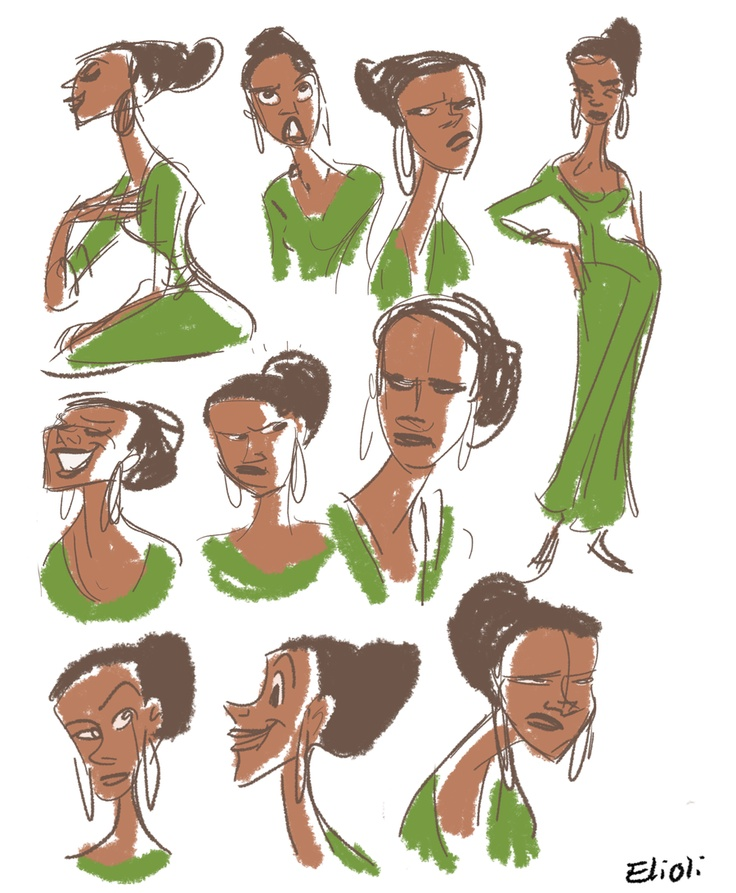 Character Design Documentary : Lady in green by elioli viantart character design