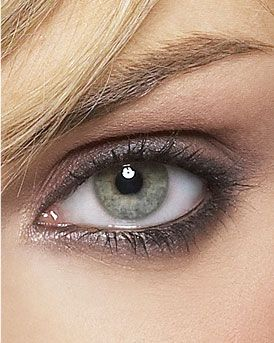 soft smokey eye, swap the black shadow for a color with more gray undertones