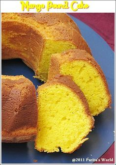 Mango Pound Cake - recipe adapted from Paula Deen.