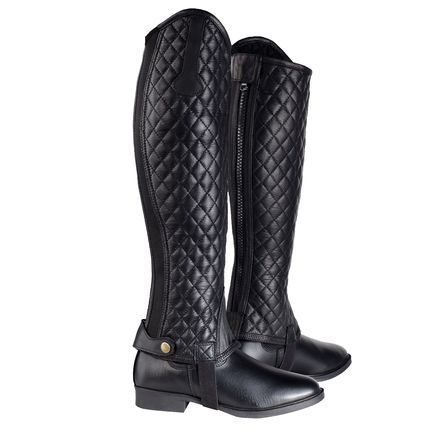 Horze Selena Quilted Leather Chaps | Horze Half Chaps