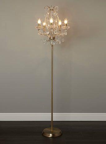 Georgette 5 light chandelier floor lamp