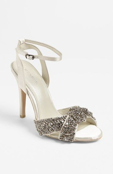 Free shipping and returns on Menbur Rhinestone Sandal at Nordstrom.com. Curving, crystal-kissed straps cross at the toe of an ivory-satin pump balanced by a slender heel - revamping an understated silhouette with a burst of opulent sparkle.