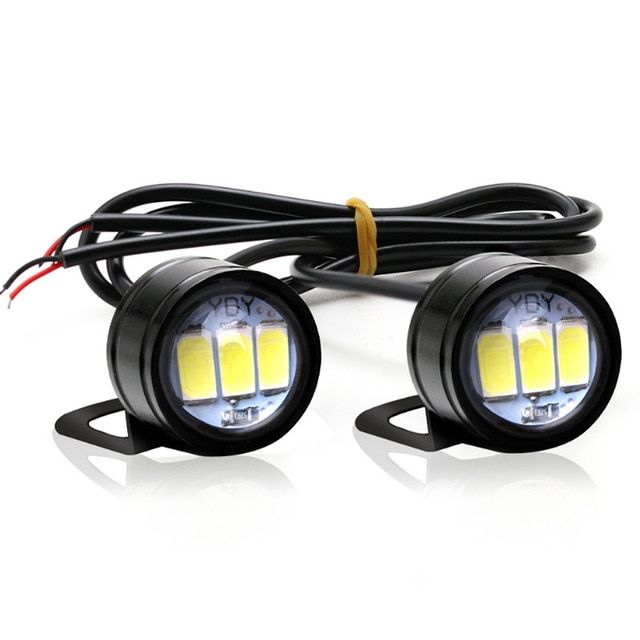 2 Pcs Car Led Eagle Eye Light Lamp Dc 12v 5w 20mm Reverse Backup Drl Fog Light Daytime Running Car Lights Signal Bulb Review Car Lights Car Led Lamp Light