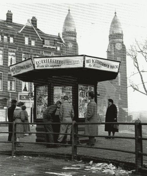 Dde krantenkiosk aan de Goudscherijweg in Rotterdam