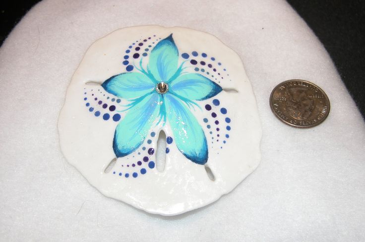 Beautiful LARGE Hand Painted Sand Dollar Decoration/Hanging! by GlasSeaArtiste on Etsy