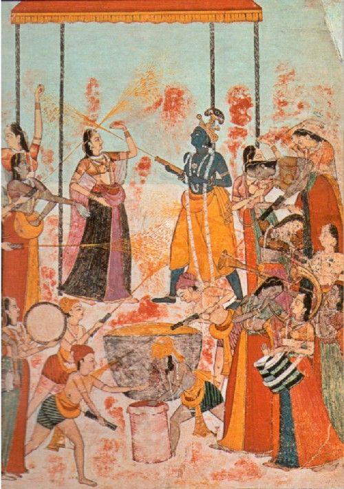 Холи,Великой ночи Шивы,Махашиваратри, шиваиты,Кришны, Индии,Холики, сожжение, чучела, Холики, порошок, цветной, струи, краски, обряды,Радха