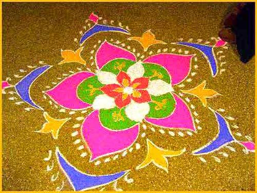 50 Best Rangoli Designs Art and Patterns With Pictures : Diwali Rangoli Designs