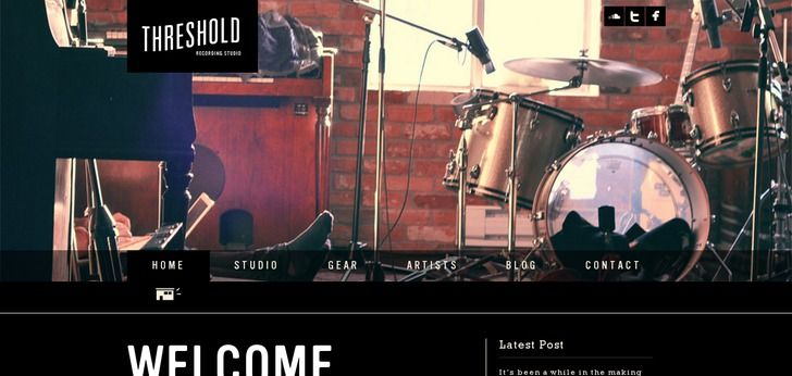 Threshold Recording Studio website has a Great Web Design | Best Web Designs