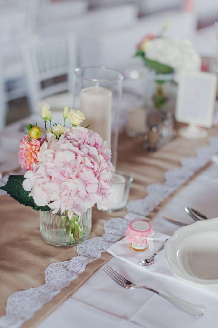 Tisch Dekoration Hochzeit Vintage Spitze Laufer Romantisch