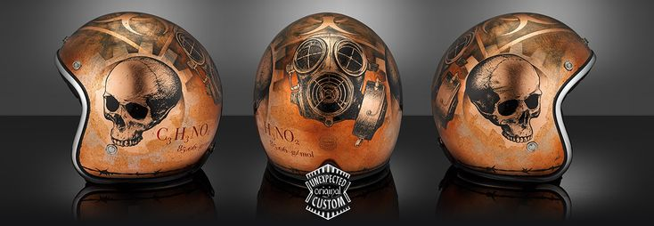 """Gasmask 2"" special custom helmet by www.unexpected-custom.com"