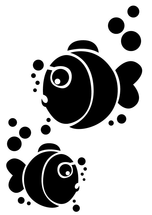 Les 37 meilleures images du tableau poisson fond marin sur - Pochoir mural fee ...