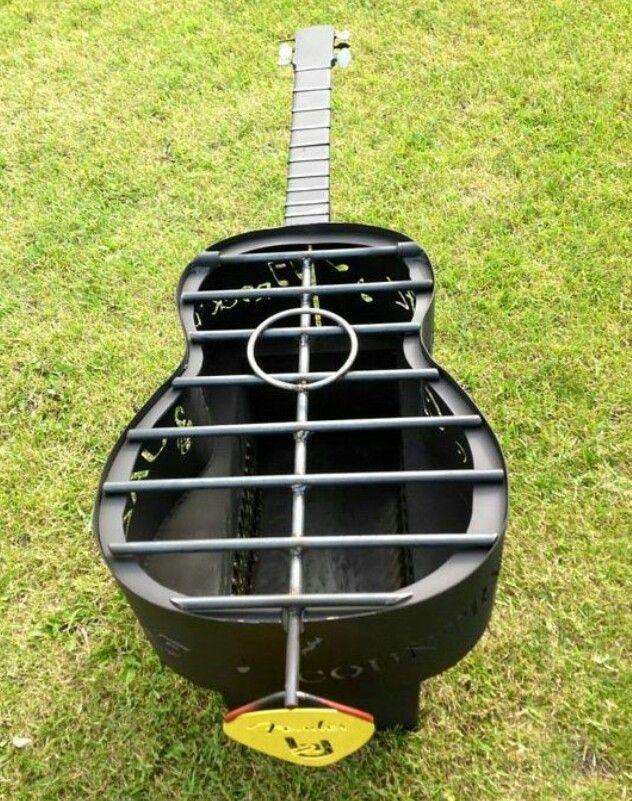 guitar shape fire pit bbq grills smokers firepits. Black Bedroom Furniture Sets. Home Design Ideas