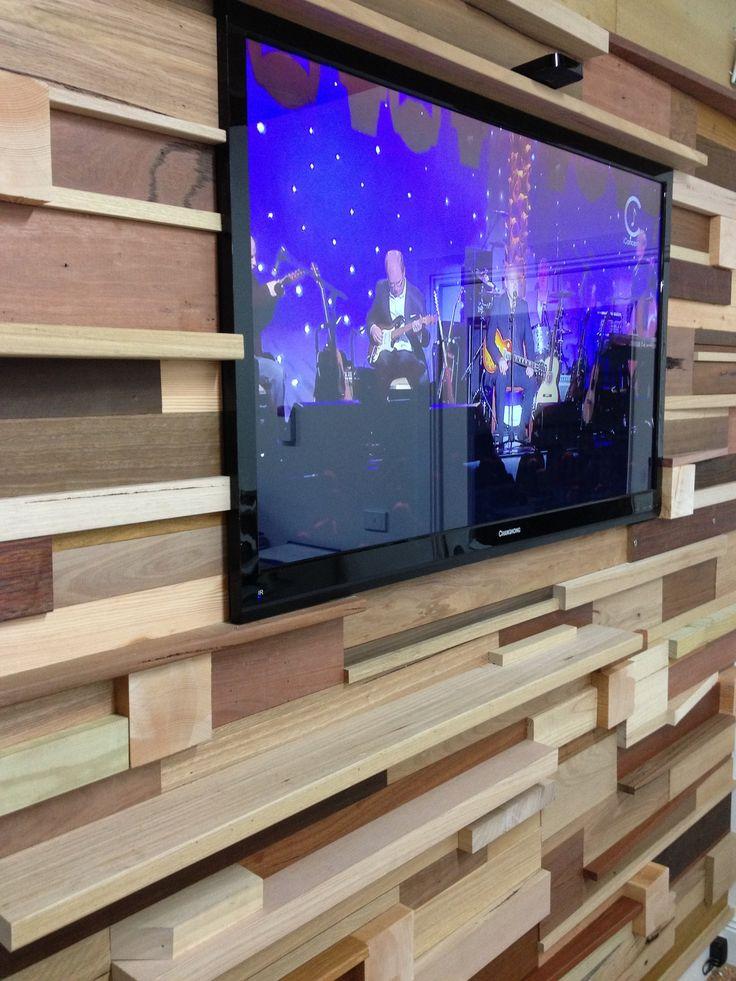 Build a stack wood wall from off cuts and left over timbers using timber flooring, decking, f17, oregon, American Oak, Pine, Treated Pine, Merbau, sydney blugum, stringybark, spotted gum, ironbark, tallowwood, blackbutt, cambia, jarrah, Karri,