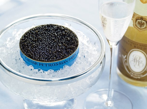 Sturgeon Caviar the most expensive caviar comes from the beluga species of strugeon. Oseta caviar retails for up to 12$ per gram for the choices grades, which translates into roughly 500$ per serving.