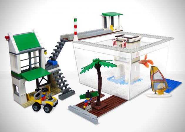Create your own custom lego environment for your fish tank for Build your own fish tank