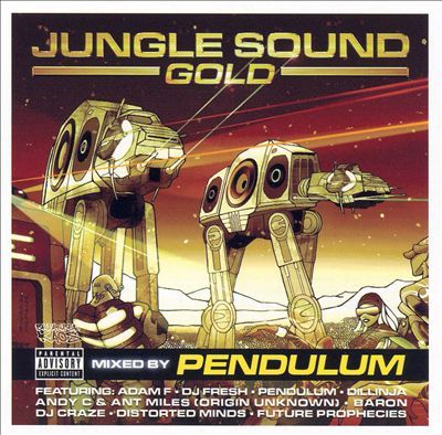 Jungle Sound Gold - Pendulum.  Listened to disc 2 of this two disc set.  I listened to the first disc a few months ago.  Still some good drum n' bass for an early morning drive.  I'm listening again right now in my office.  Volume?  Cranked.