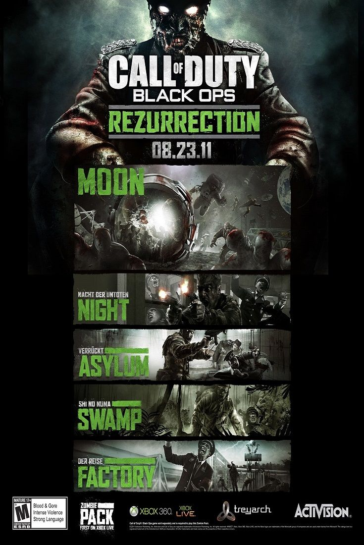 Call of Duty Black Ops Rezurrection Zombies High Quality Silk Fabric Print Poster Get yours as part of this exclusive deal: http://www.ebay.com/itm/Call-of-Duty-Unique-Collection-Zombie-Poster-5-Pcs-Set-13x20-24x36-32x48-B-/201601855005?var=&hash=item2ef0682e1d:m:mjv3UIOM-iL-TNmc03xo4MQ