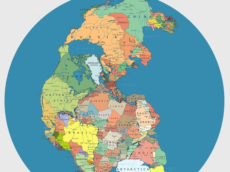 A Most Delightful Map - Radiolab. It pictures the Earth during the late  Paleozoic,