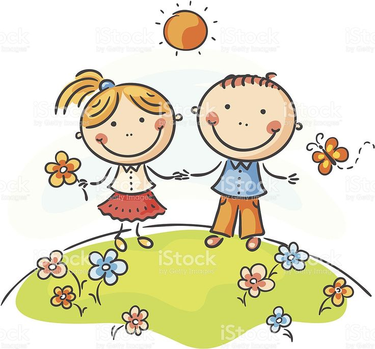 Rapaz e rapariga download vetor e ilustração royalty-free