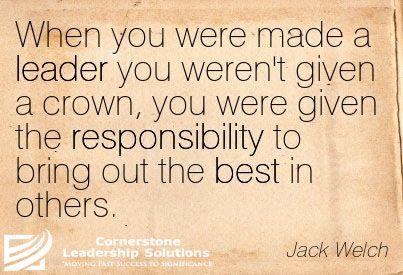 Leadership, Jack Welch, Perspective