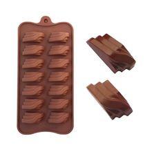 Retângulo laminado de Silicone Bakeware Chocolate / bolo / biscoito molde sabão…