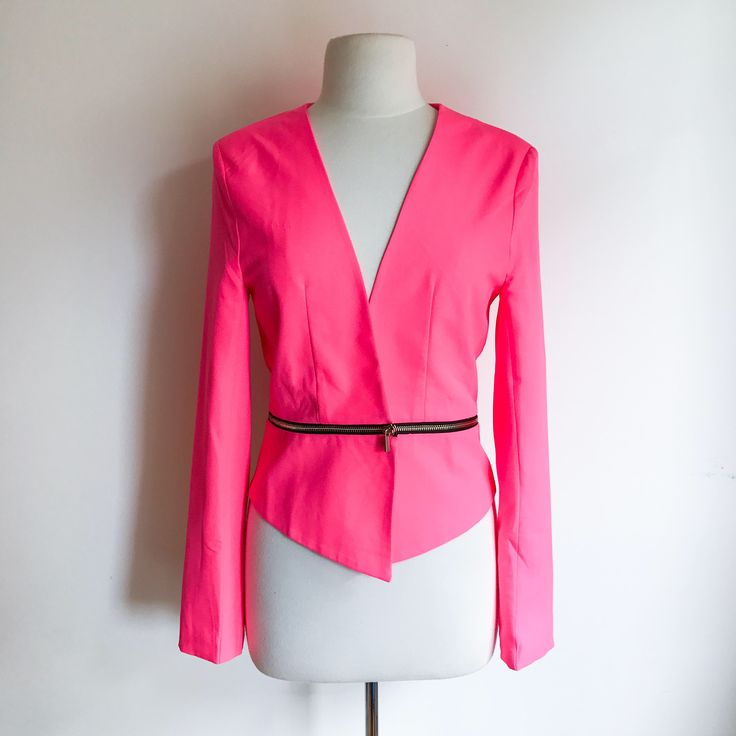 Neon Pink Jacket / Pink Blazer / Women's Clothing / Retro Jacket / Large Jacket / Hot Pink Blazer / Business Casual / Blazers and Jackets by MarlaHomanCollection on Etsy https://www.etsy.com/ca/listing/511873929/neon-pink-jacket-pink-blazer-womens