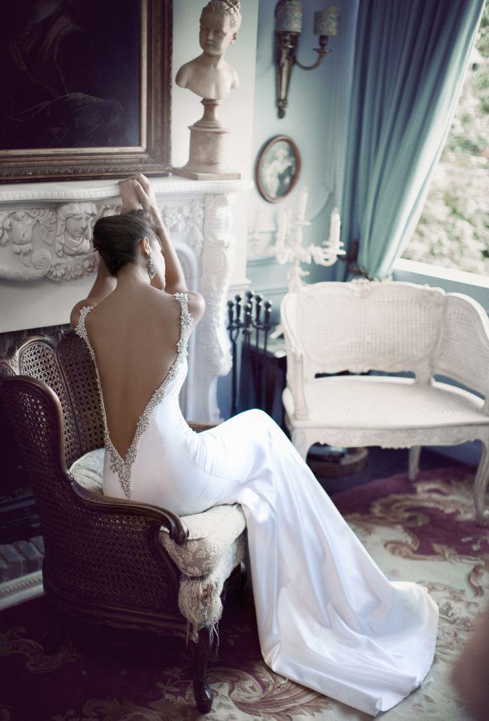 Berta- Daring open back wedding dress