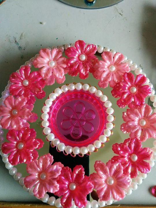 Diwali pink diya