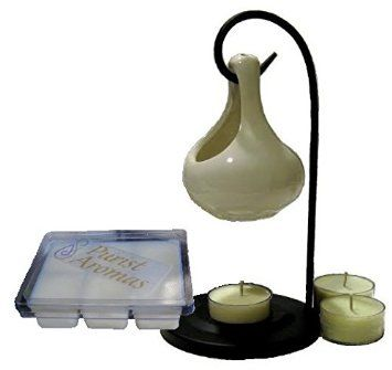 Ceramic Essential Oil Diffuser - Aromatherapy Candle Warmer Gift Set