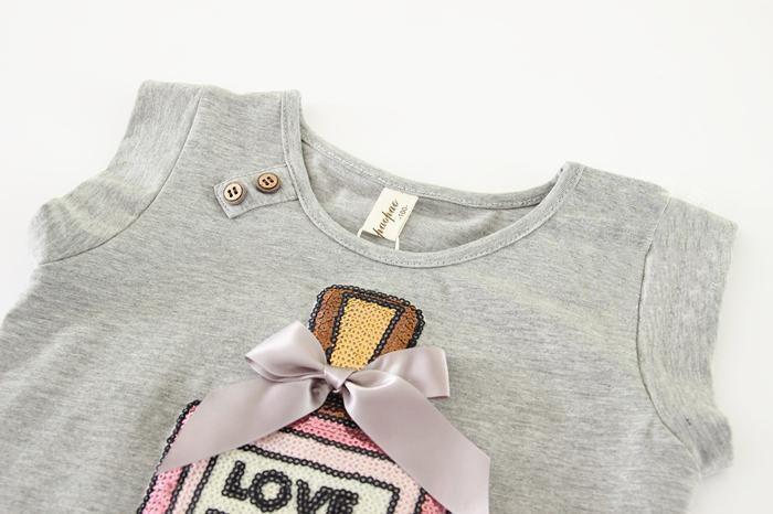 Девушки Юбки Летом Девушка Мода Тюль письмо Принцесса Юбки Детские Детская одежда Юбки Для Девочек футболка + Юбки