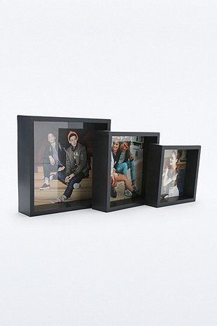 Black Picture Frame Trio - Urban Outfitters