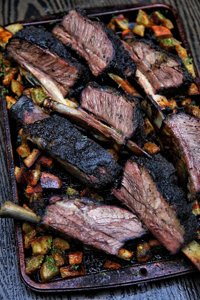 Classic Texas Style Post Oak Smoked Beef Short Ribs Recipe Fire Food Smoked Beef Short Ribs Beef Short Ribs