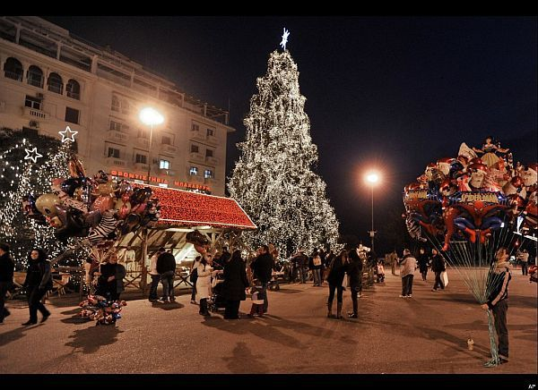 Aristotelous Square Christmas Tree, Thessaloniki, Greece