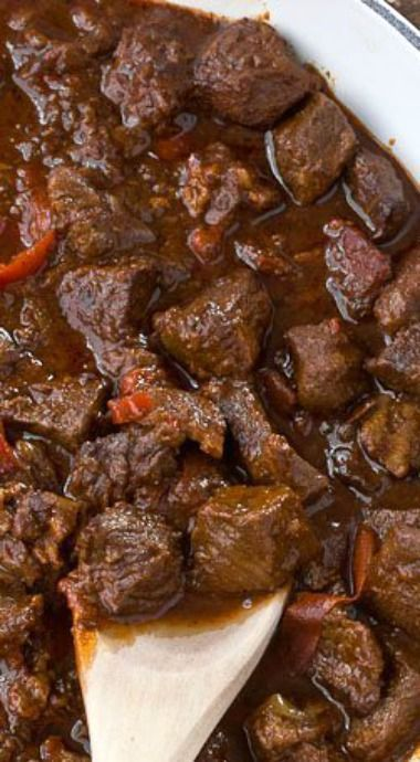 Beef Goulash ~ Ladle over cooked egg noodles... This recipe is even better made a day or two in advance