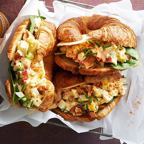 Deviled Egg Croissant-wiches