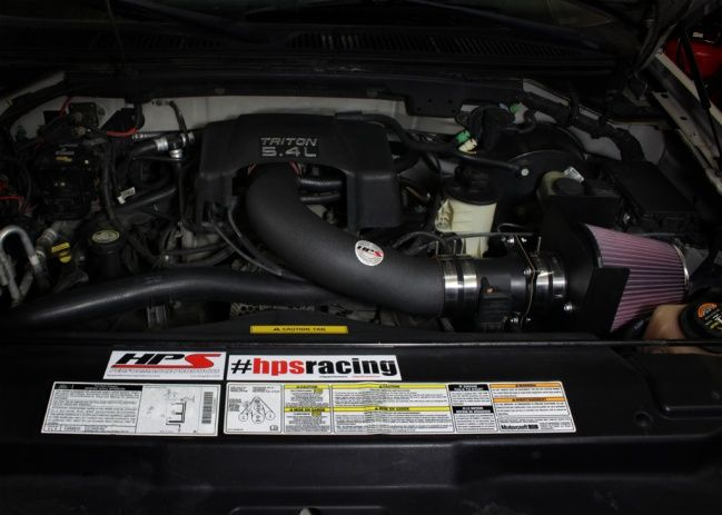 Hps Performance Shortram Air Intake Kit 2000 2001 Ford F150 Harley Davidson 5 4l V8 Includes Heat Shield Black Reusable Air Filter Ford F150 F150