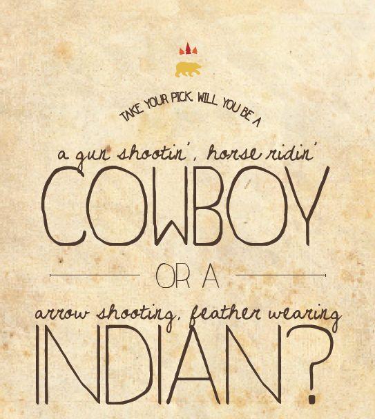 stationery, invitation, cowboys and indians birthday party, western invite, cowboy kids party, indian kids party invitation, www.doodledog.com — Doodle Dog Creative  www.etsy.com/shop/DoodleDogCreative