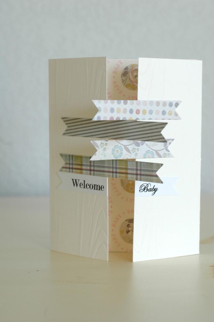 Love the way this opens: Wedding Cards, Scrapbook Cards, Cards Ideas, Baby Cards, Folding Cards, Idol Round, Galleries Idol, Paper Crafts, Crafts Galleries