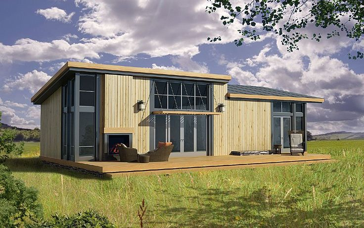 Prefab Home Model: Greenpod Ludlow. Base Price: $95,000. BR: 1. BA: 1.