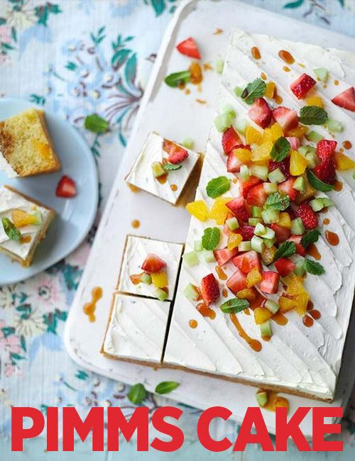 Celebrate this sunny weather with our Pimm's  traybake
